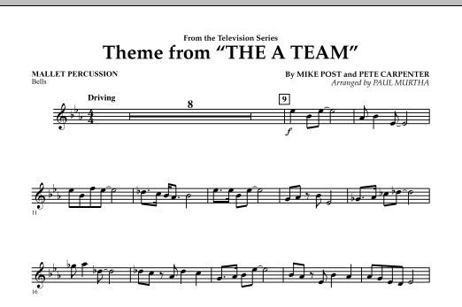 Theme from The A-Team - Mallet Percussion (Concert Band)