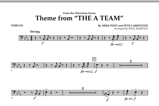 Theme from The A-Team - Timpani (Concert Band)