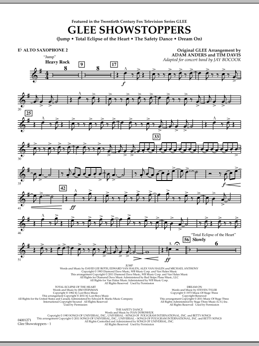 Glee Showstoppers - Eb Alto Saxophone 2 (Concert Band)