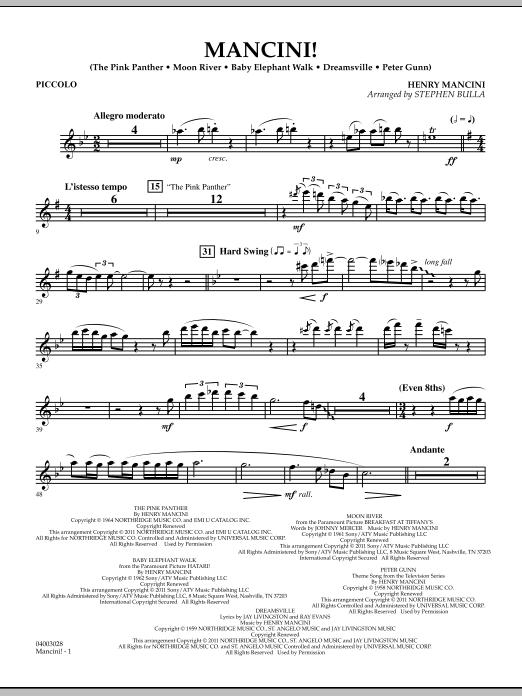 Mancini! - Piccolo (Concert Band)