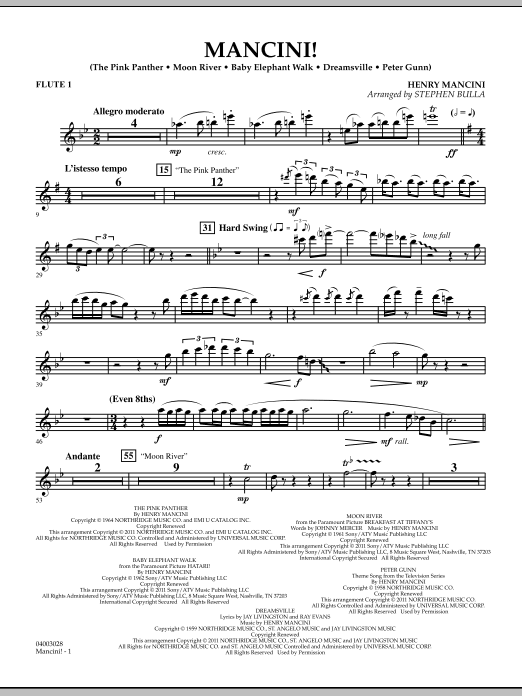 Mancini! - Flute 1 (Concert Band)