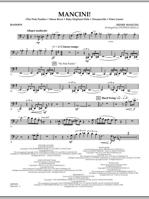 Mancini! - Bassoon (Concert Band)
