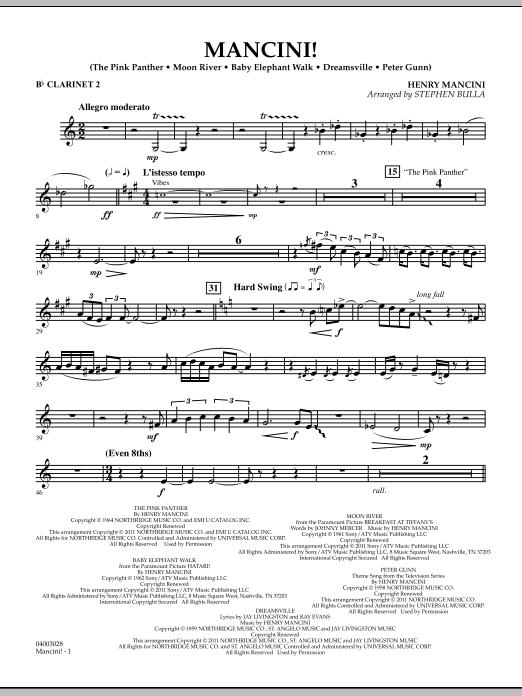 Mancini! - Bb Clarinet 2 (Concert Band)