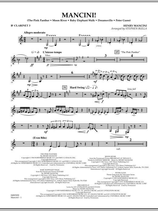 Mancini! - Bb Clarinet 3 (Concert Band)