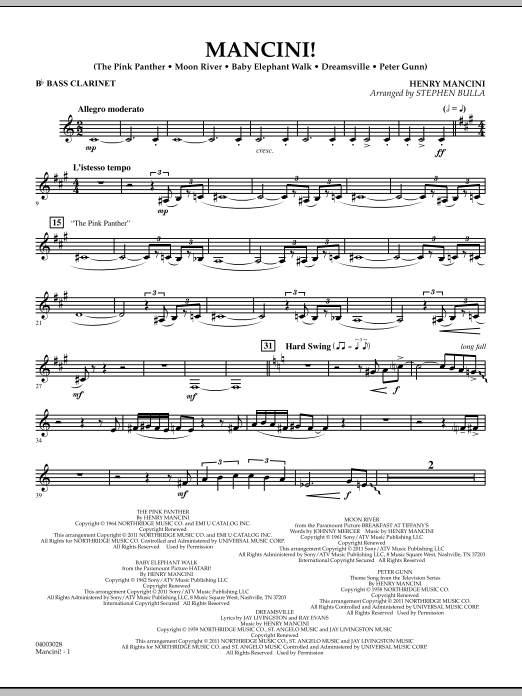 Mancini! - Bb Bass Clarinet (Concert Band)
