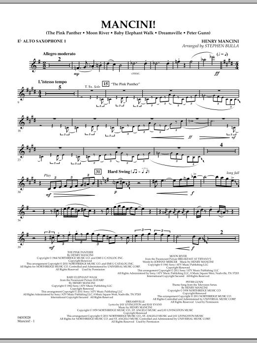 Mancini! - Eb Alto Saxophone 1 (Concert Band)