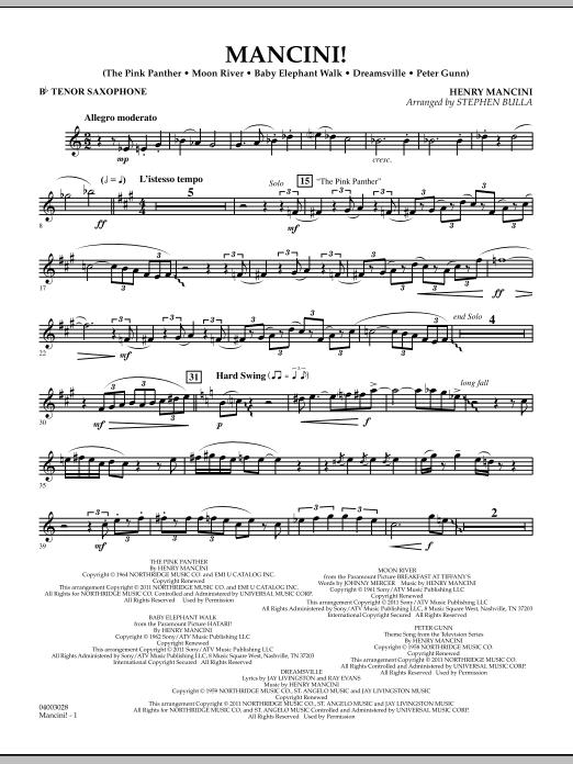 Mancini! - Bb Tenor Saxophone (Concert Band)