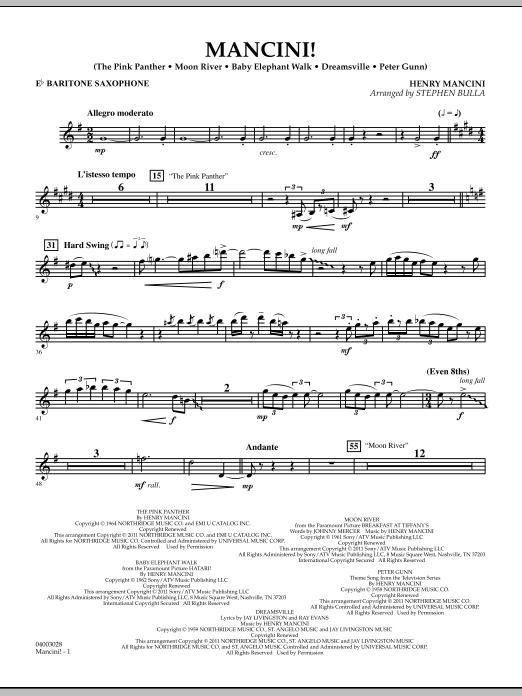 Mancini! - Eb Baritone Saxophone (Concert Band)