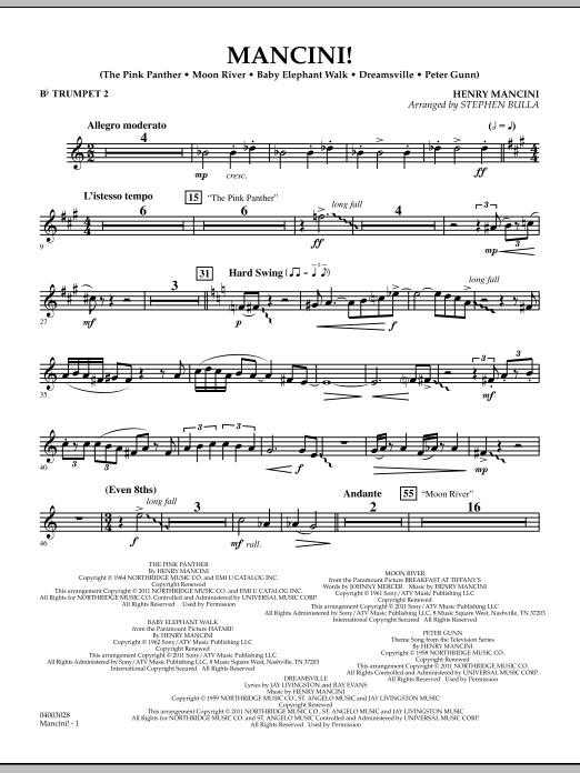 Mancini! - Bb Trumpet 2 (Concert Band)