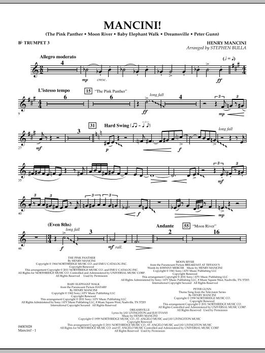 Mancini! - Bb Trumpet 3 (Concert Band)
