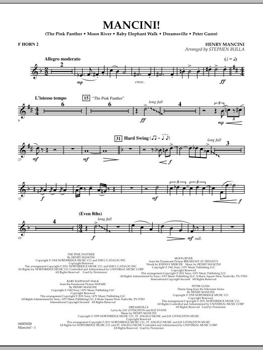 Mancini! - F Horn 2 (Concert Band)