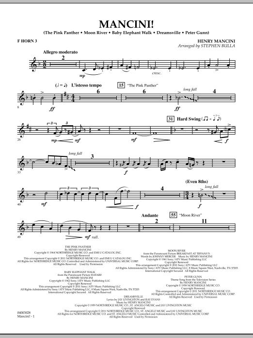 Mancini! - F Horn 3 (Concert Band)