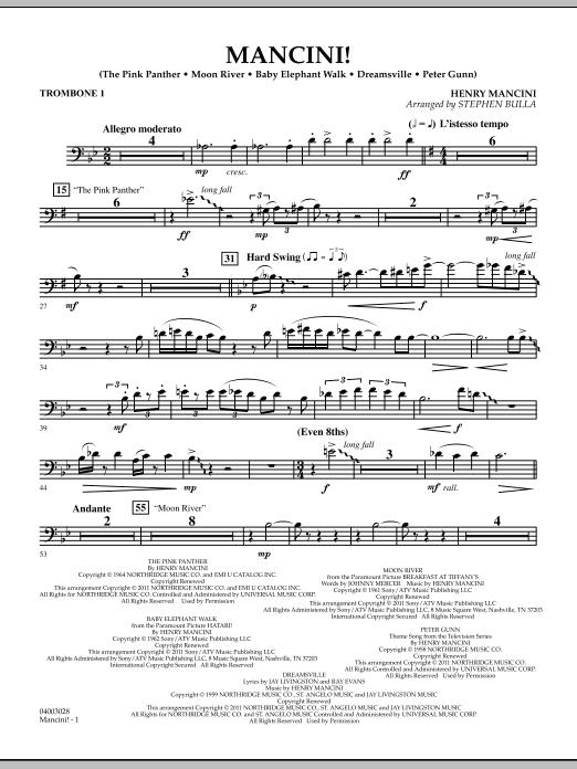 Mancini! - Trombone 1 (Concert Band)