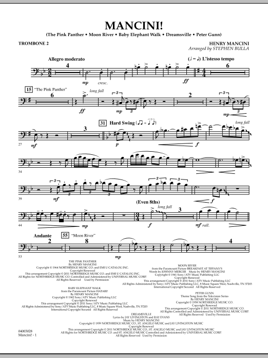 Mancini! - Trombone 2 (Concert Band)