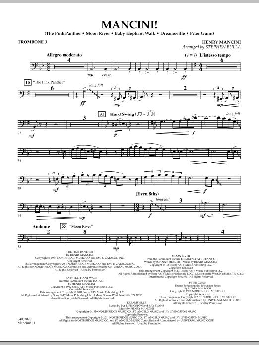 Mancini! - Trombone 3 (Concert Band)