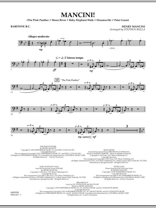 Mancini! - Baritone B.C. (Concert Band)