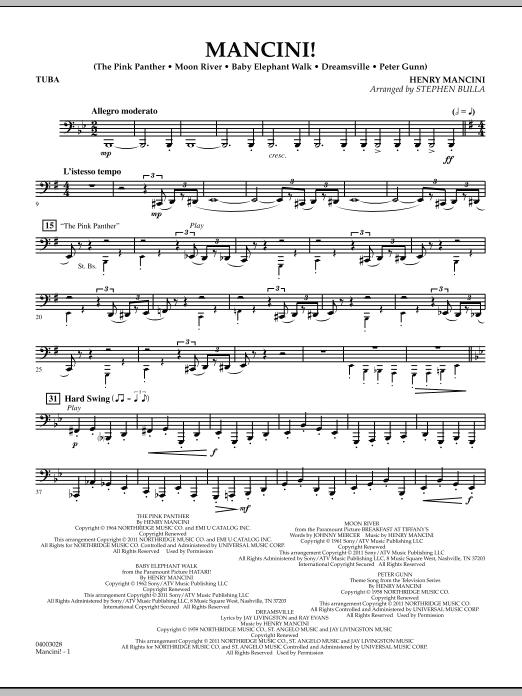 Mancini! - Tuba (Concert Band)