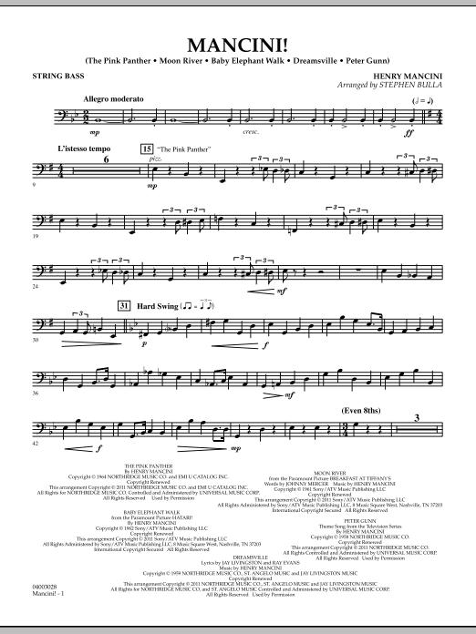 Mancini! - String Bass (Concert Band)