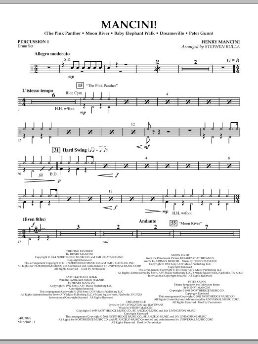 Mancini! - Percussion 1 (Concert Band)