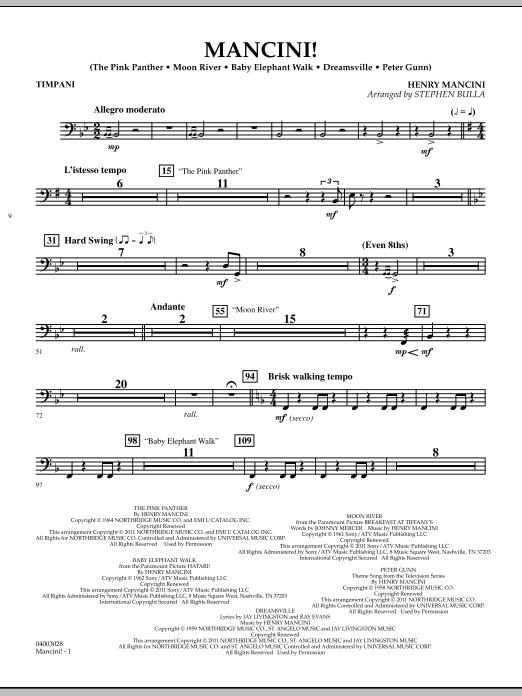 Mancini! - Timpani (Concert Band)