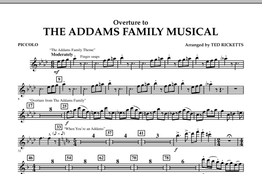 Overture to The Addams Family Musical - Piccolo (Concert Band)