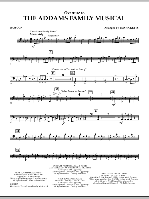 Overture to The Addams Family Musical - Bassoon (Concert Band)
