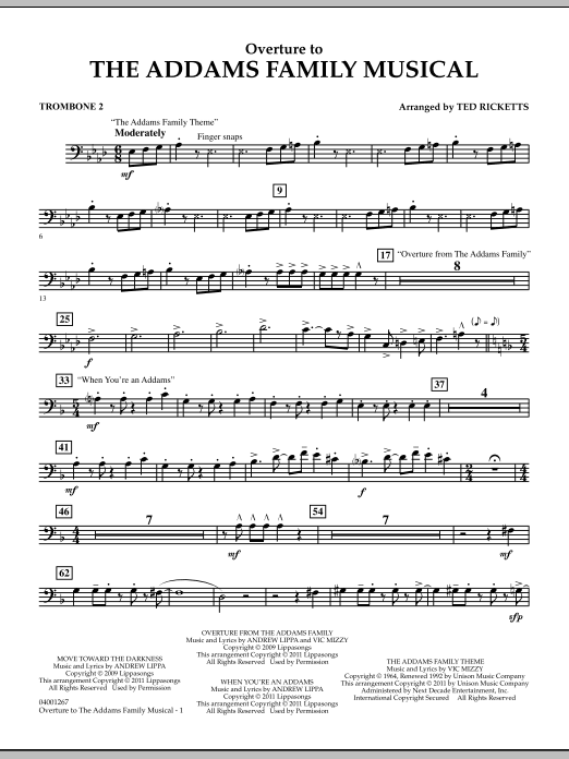 Overture to The Addams Family Musical - Trombone 2 (Concert Band)