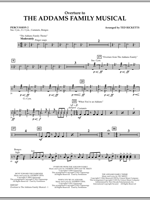 Overture to The Addams Family Musical - Percussion 2 (Concert Band)