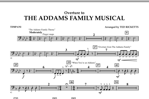 Overture to The Addams Family Musical - Timpani (Concert Band)