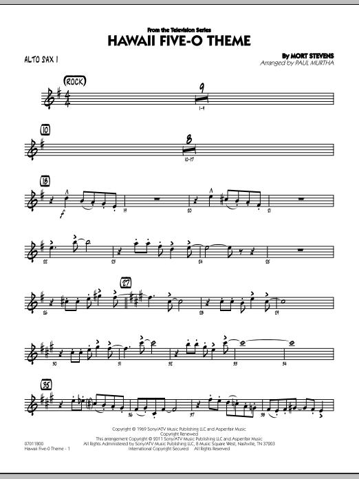 Hawaii Five-O Theme - Alto Sax 1 (Jazz Ensemble)