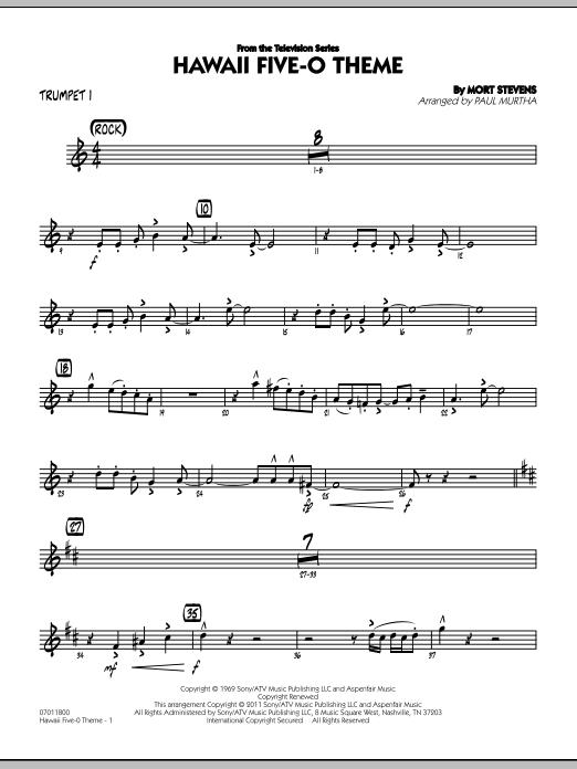 Hawaii Five-O Theme - Trumpet 1 (Jazz Ensemble)