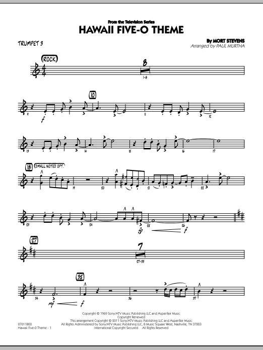 Hawaii Five-O Theme - Trumpet 3 (Jazz Ensemble)