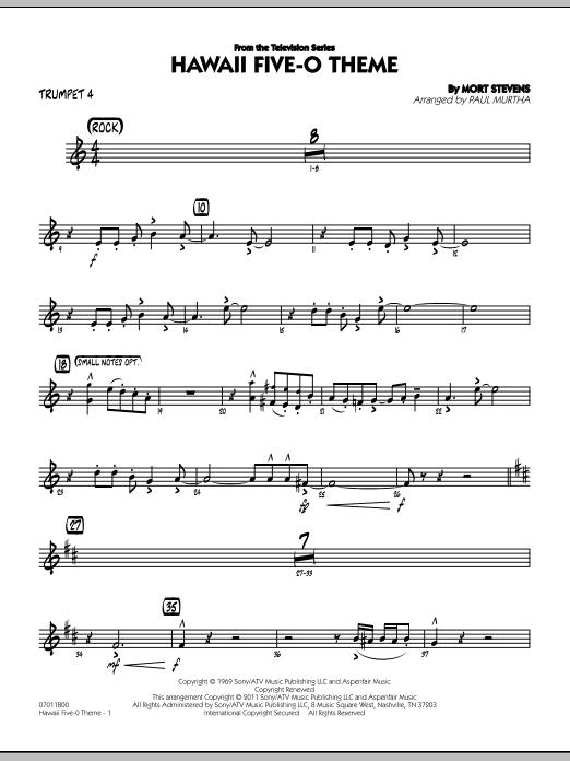 Hawaii Five-O Theme - Trumpet 4 (Jazz Ensemble)