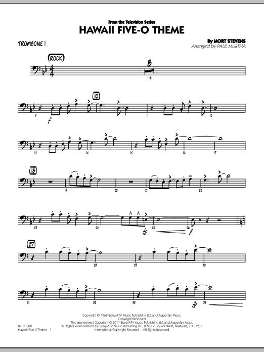 Hawaii Five-O Theme - Trombone 1 (Jazz Ensemble)
