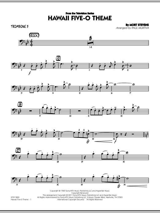 Hawaii Five-O Theme - Trombone 3 (Jazz Ensemble)