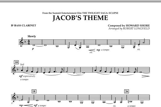 Jacob's Theme (from The Twilight Saga: Eclipse) - Bb Bass Clarinet (Concert Band)