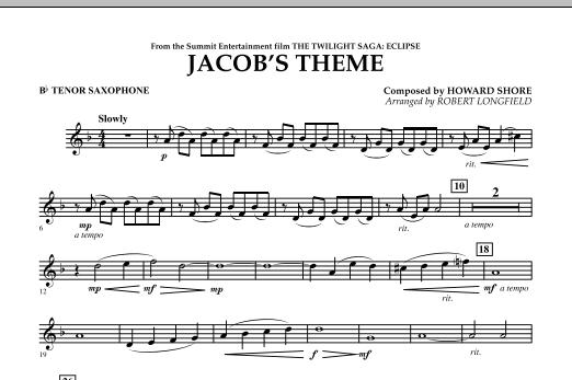 Jacob's Theme (from The Twilight Saga: Eclipse) - Bb Tenor Saxophone (Concert Band)