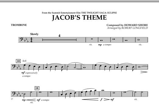 Jacob's Theme (from The Twilight Saga: Eclipse) - Trombone (Concert Band)