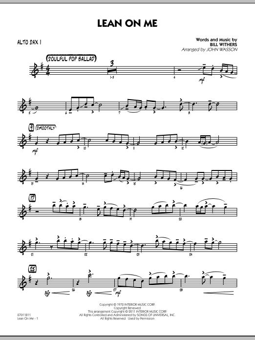 Lean On Me - Alto Sax 1 (Jazz Ensemble)