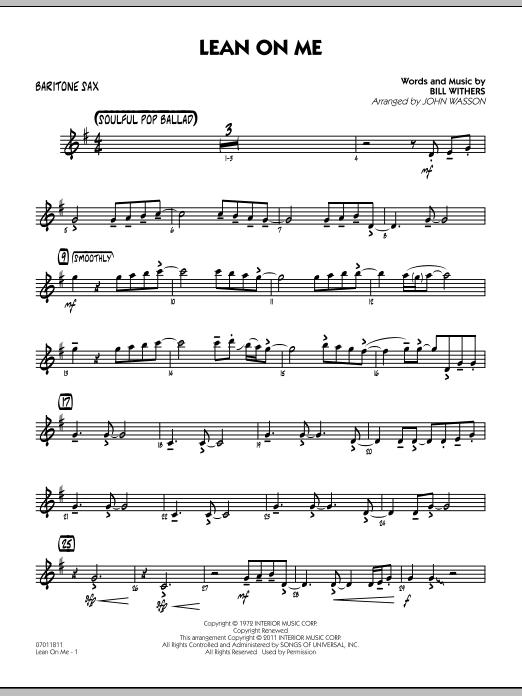Lean On Me - Baritone Sax (Jazz Ensemble)