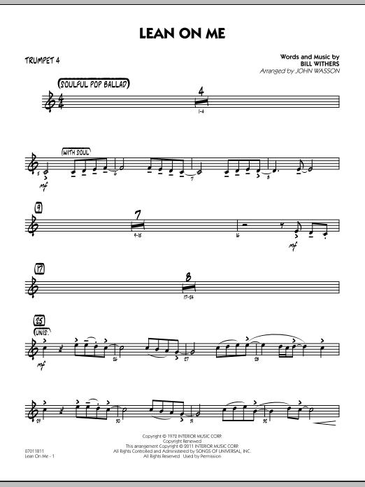 Lean On Me - Trumpet 4 (Jazz Ensemble)