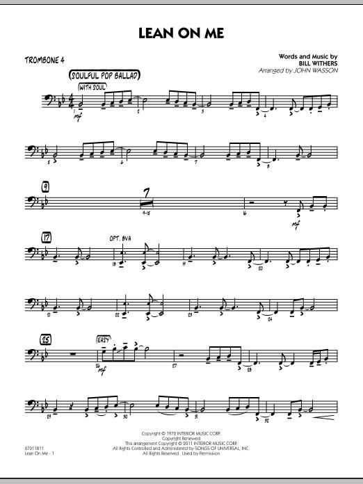 Lean On Me - Trombone 4 (Jazz Ensemble)
