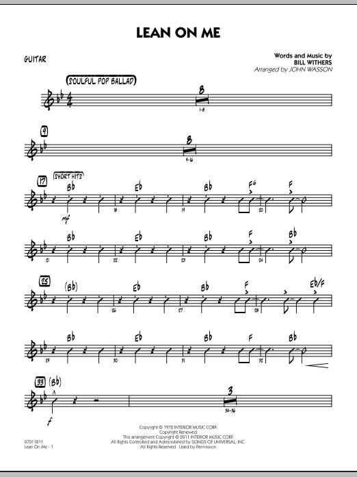 Lean On Me - Guitar (Jazz Ensemble)