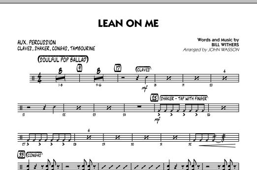 Lean On Me - Aux Percussion (Jazz Ensemble)