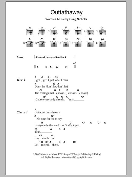 Outtathaway Sheet Music