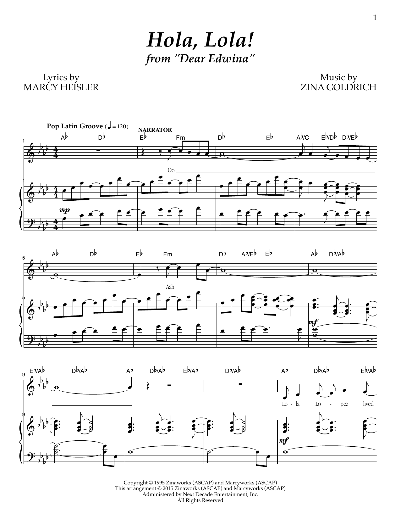 Hola, Lola! Sheet Music