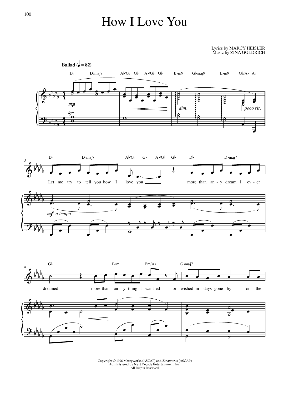 How I Love You Sheet Music