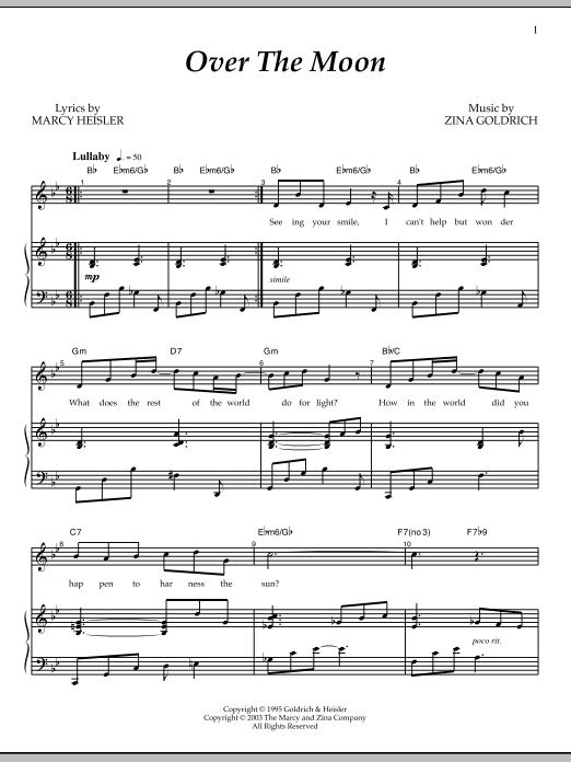 Partition piano Over The Moon de Goldrich & Heisler - Piano Voix