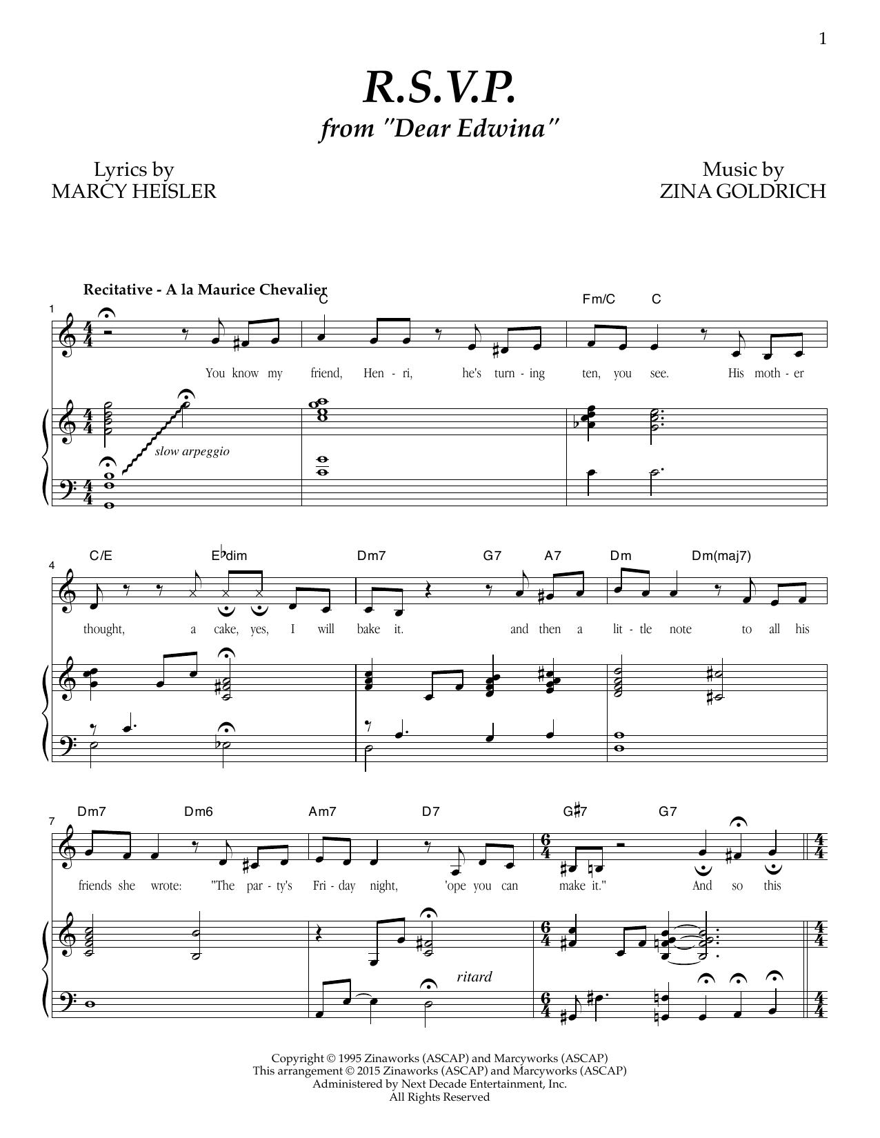 R.S.V.P. Sheet Music
