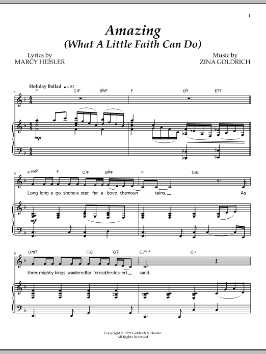 Amazing (What A Little Faith Can Do) Sheet Music